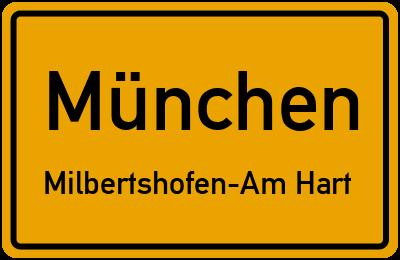 Ortsschild München Milbertshofen-Am Hart