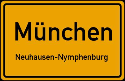 Straßenverzeichnis München Neuhausen-Nymphenburg