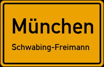 Straßenverzeichnis München Schwabing-Freimann