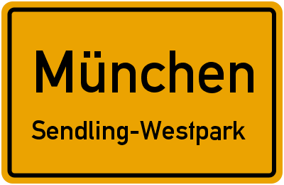 Straßenverzeichnis München Sendling-Westpark
