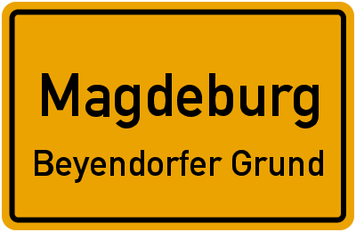Straßenverzeichnis Magdeburg Beyendorfer Grund