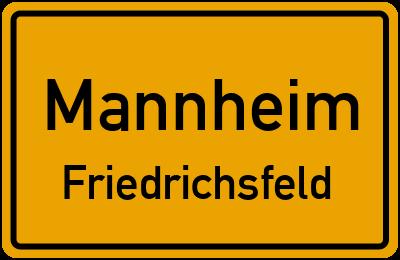 Ortsschild Mannheim Friedrichsfeld
