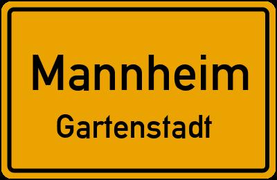 Ortsschild Mannheim Gartenstadt