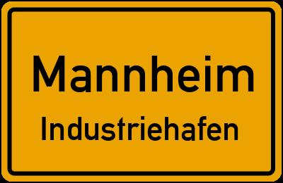 Ortsschild Mannheim Industriehafen