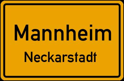 Ortsschild Mannheim Neckarstadt
