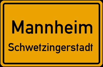 Ortsschild Mannheim Schwetzingerstadt