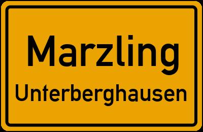 Ortsschild Marzling Unterberghausen