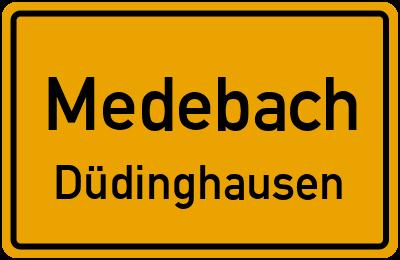 Ortsschild Medebach Düdinghausen