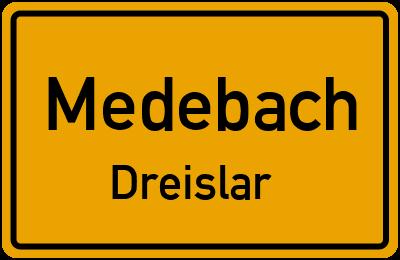 Ortsschild Medebach Dreislar