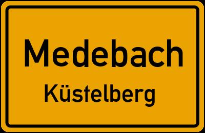 Ortsschild Medebach Küstelberg