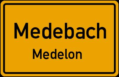 Ortsschild Medebach Medelon