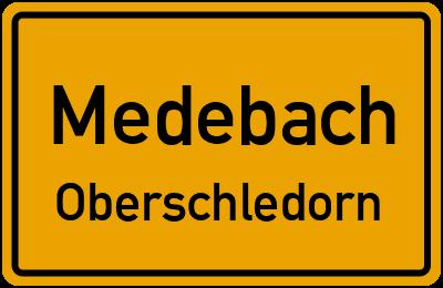 Ortsschild Medebach Oberschledorn
