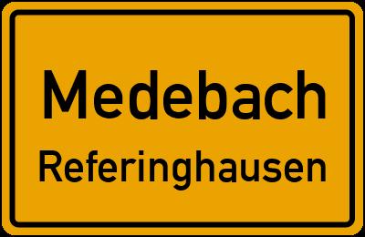 Ortsschild Medebach Referinghausen