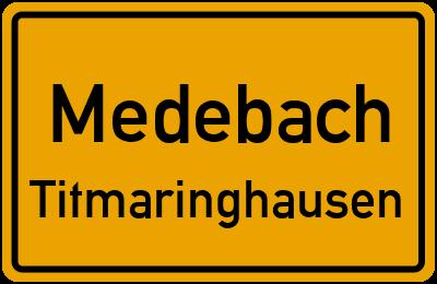 Ortsschild Medebach Titmaringhausen