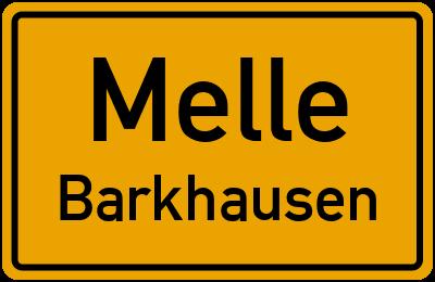 Ortsschild Melle Barkhausen
