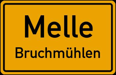 Ortsschild Melle Bruchmühlen