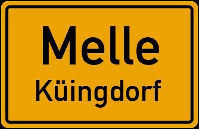 Ortsschild Melle Küingdorf