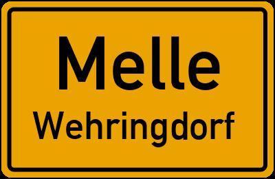 Ortsschild Melle Wehringdorf