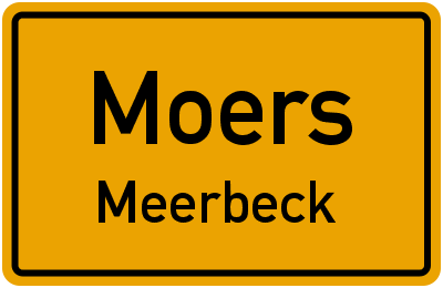 Ortsschild Moers Meerbeck