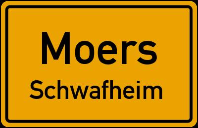 Ortsschild Moers Schwafheim