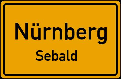 Ortsschild Nürnberg Sebald