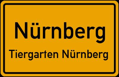 Ortsschild Nürnberg Tiergarten Nürnberg