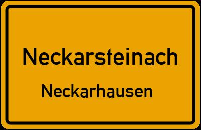 Ortsschild Neckarsteinach Neckarhausen