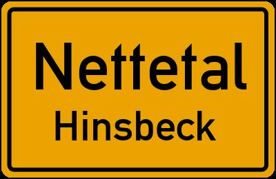 Ortsschild Nettetal Hinsbeck