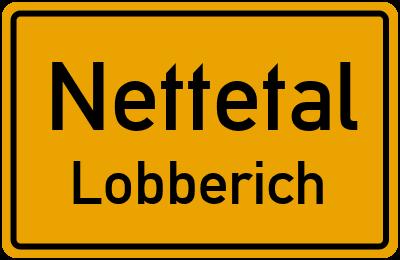 Ortsschild Nettetal Lobberich