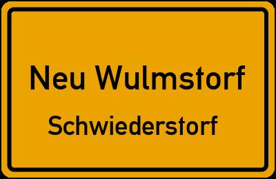 Ortsschild Neu Wulmstorf Schwiederstorf