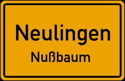 Ortsschild Neulingen Nußbaum