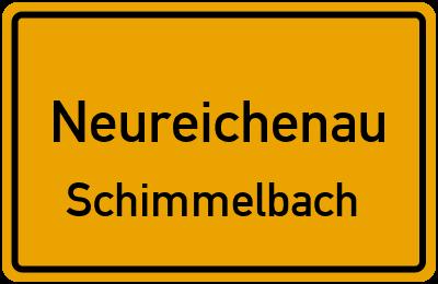 Ortsschild Neureichenau Schimmelbach