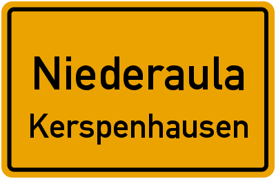 Ortsschild Niederaula Kerspenhausen