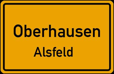 Ortsschild Oberhausen Alsfeld