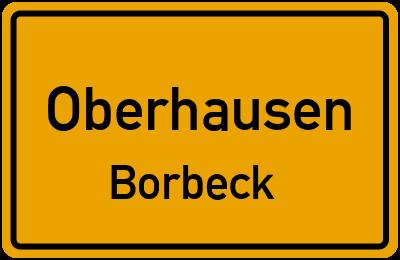 Ortsschild Oberhausen Borbeck