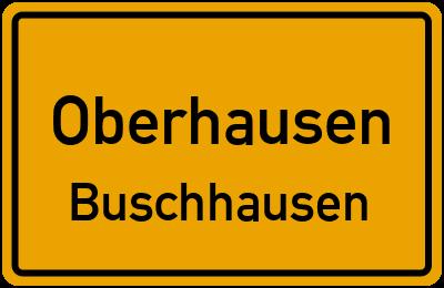 Ortsschild Oberhausen Buschhausen