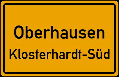 Ortsschild Oberhausen Klosterhardt-Süd