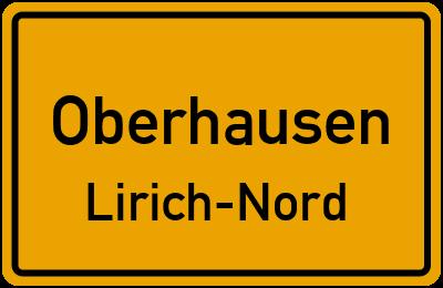 Ortsschild Oberhausen Lirich-Nord