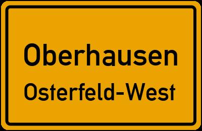 Ortsschild Oberhausen Osterfeld-West
