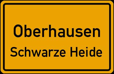 Ortsschild Oberhausen Schwarze Heide