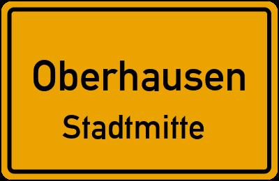 Ortsschild Oberhausen Stadtmitte
