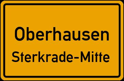 Ortsschild Oberhausen Sterkrade-Mitte