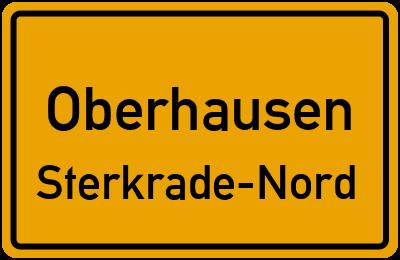 Ortsschild Oberhausen Sterkrade-Nord