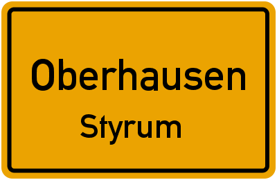 Ortsschild Oberhausen Styrum