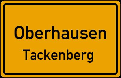 Ortsschild Oberhausen Tackenberg