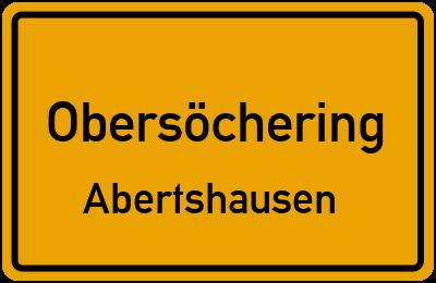 Ortsschild Obersöchering Abertshausen