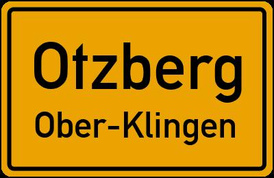 Ortsschild Otzberg Ober-Klingen