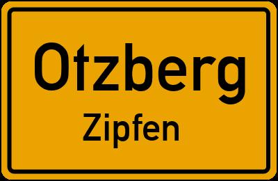 Ortsschild Otzberg Zipfen