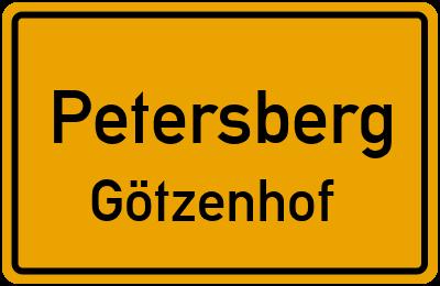 Ortsschild Petersberg Götzenhof