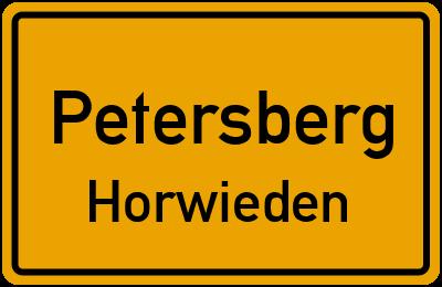 Ortsschild Petersberg Horwieden